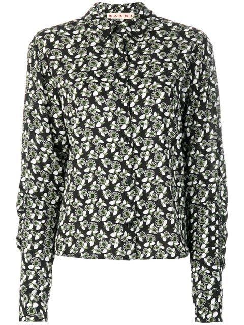 Marni Plumeria Print Shirt - Farfetch