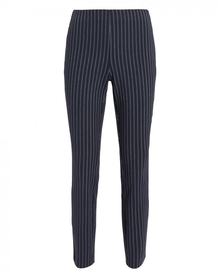 Simone Navy Pinstriped Pants