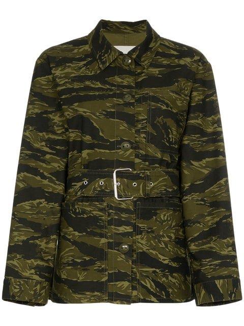 Proenza Schouler Long Sleeve Camouflage Jacket  - Farfetch