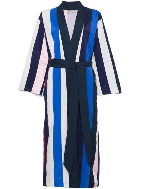 Natasha Zinko Striped Midi Robe - Farfetch