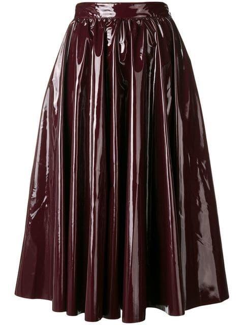 MSGM Vinyl Flared Skirt - Farfetch