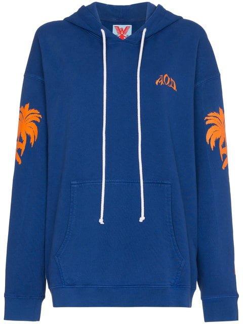 Adaptation Palm Print Hooded Sweatshirt - Farfetch