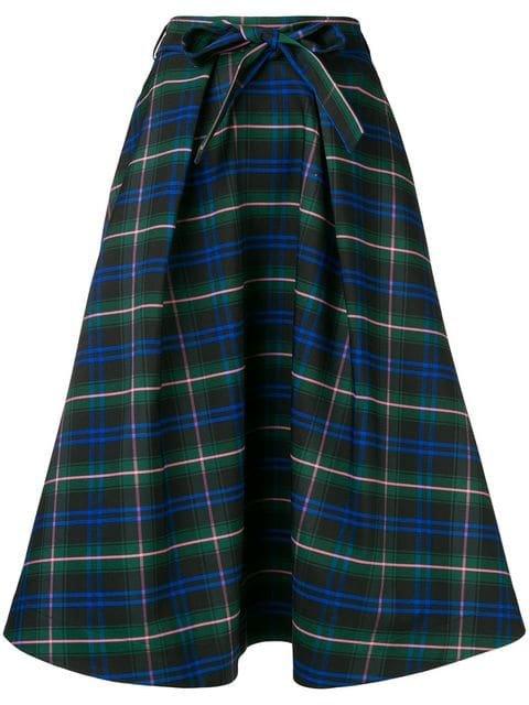 MSGM Check Flared Skirt - Farfetch