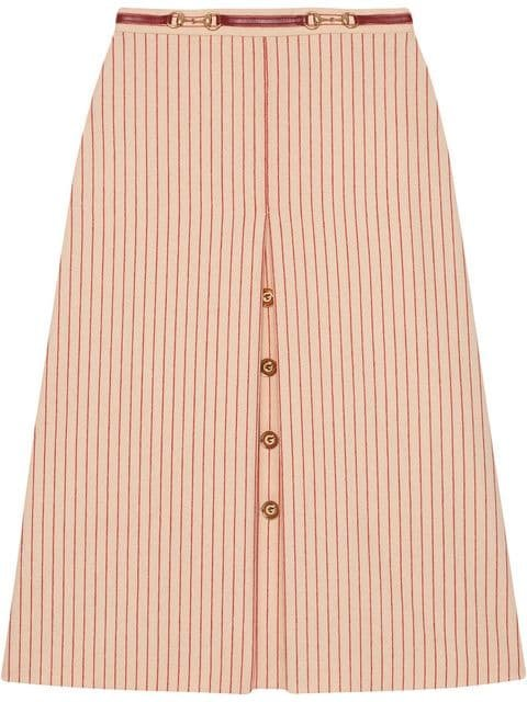 Gucci Wool Skirt With GG Buttons - Farfetch