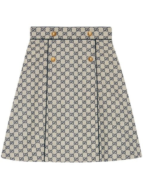Gucci GG Canvas A-line Skirt - Farfetch
