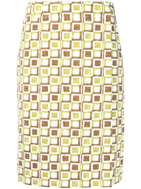 Prada Printed Pencil Skirt - Farfetch