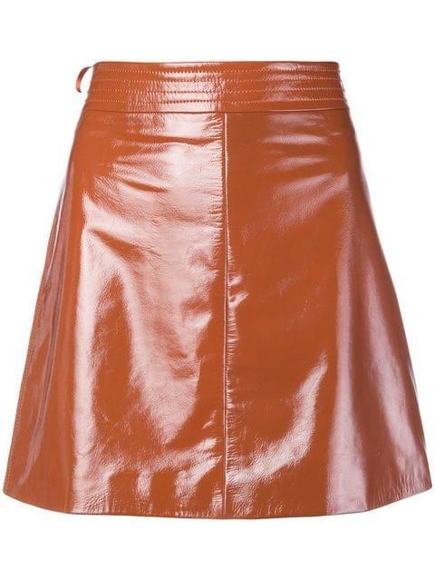 Arma Patent A-line Skirt - Farfetch