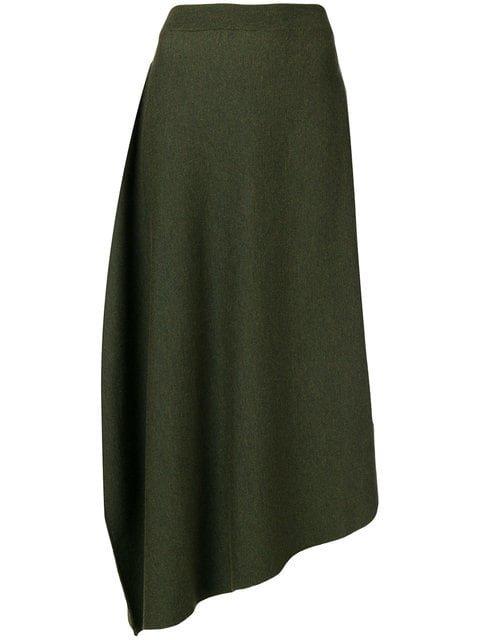 JW Anderson High Waisted Asymmetric Skirt - Farfetch