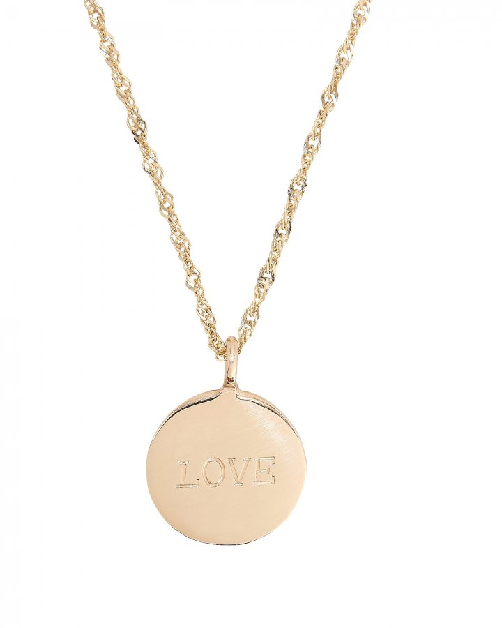 Demi Medallion Signet Necklace