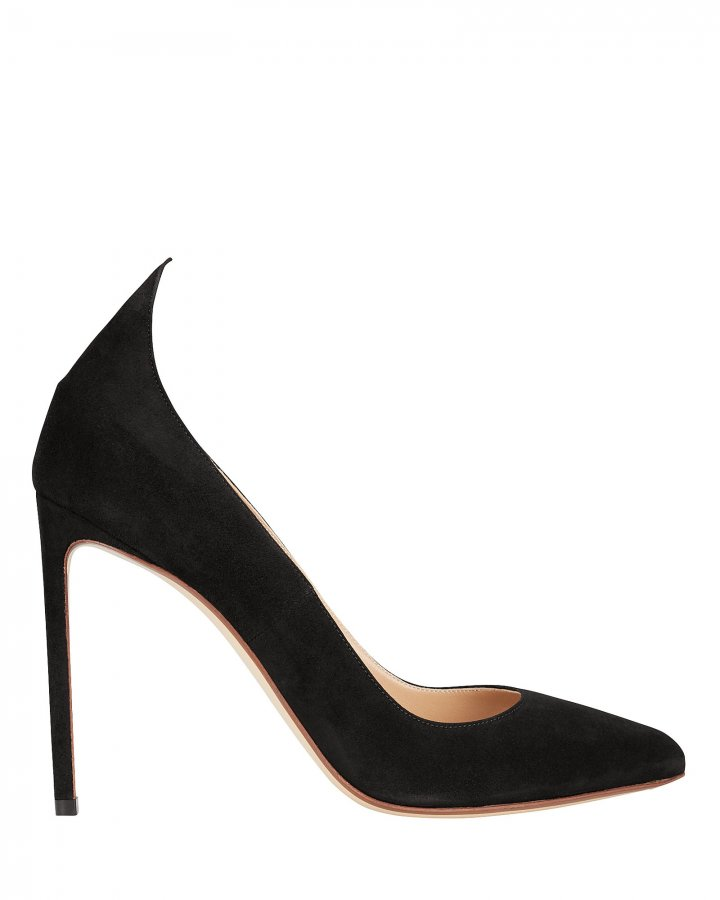 Point Back Suede Pumps