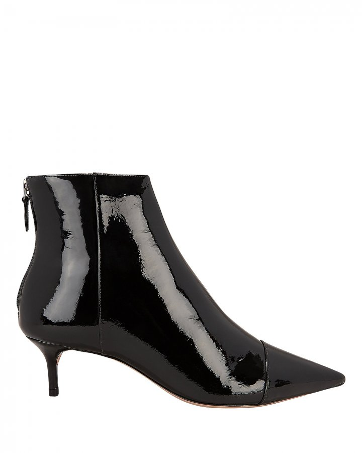 Patent Leather Kitten Booties