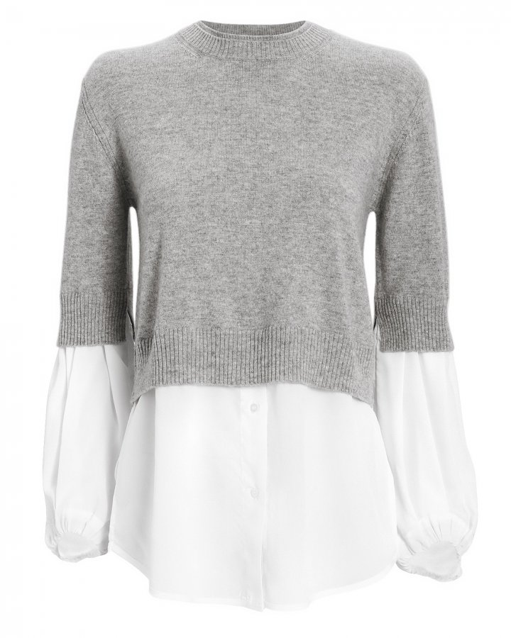 Ebele Cashmere Layered Sweater