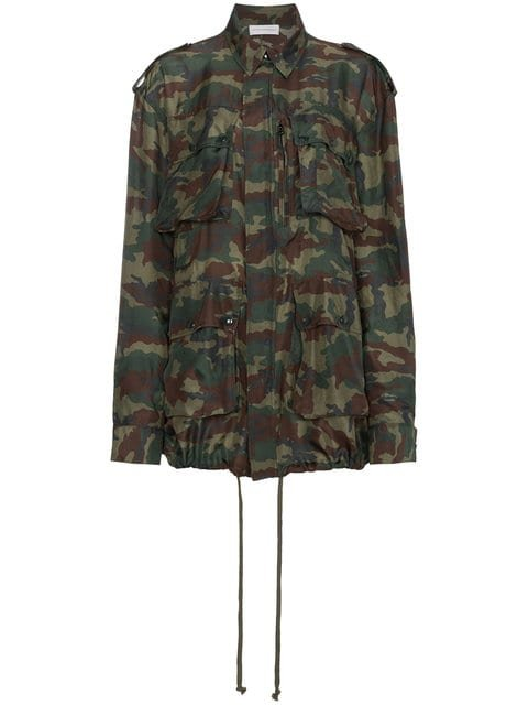 Faith Connexion Camouflage Print Drawstring Jacket - Farfetch