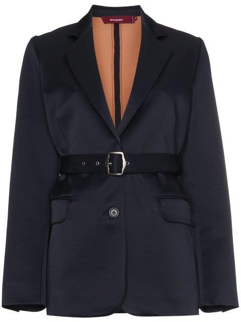Sies Marjan Wool Blend Belted Blazer - Farfetch
