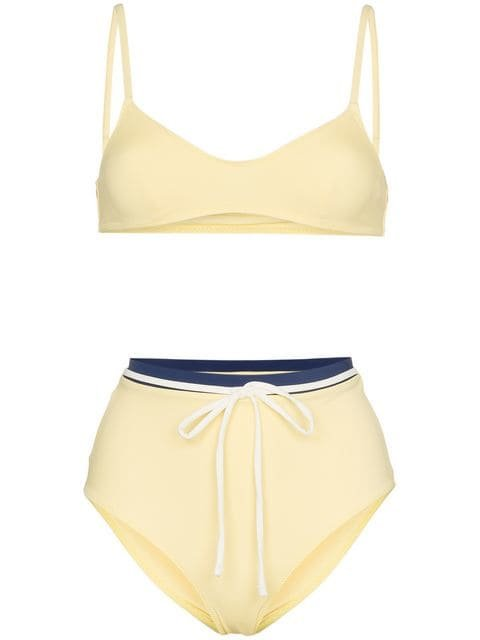 Solid And Striped Cora Bikini Top And High-waist Set - Farfetch