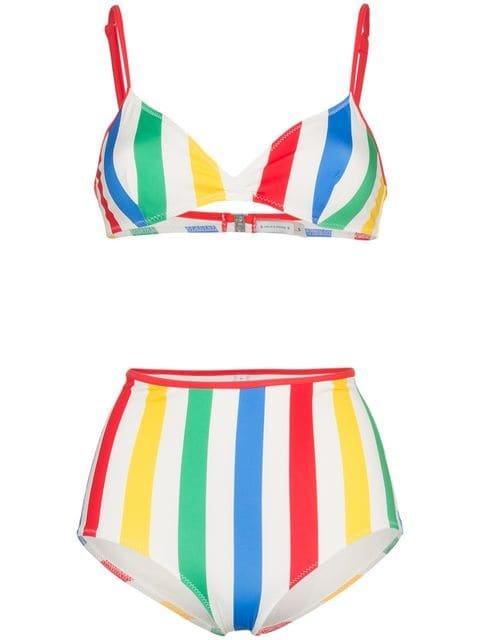 Solid And Striped Brigitte Striped Bikini Top And High-waist Set - Farfetch