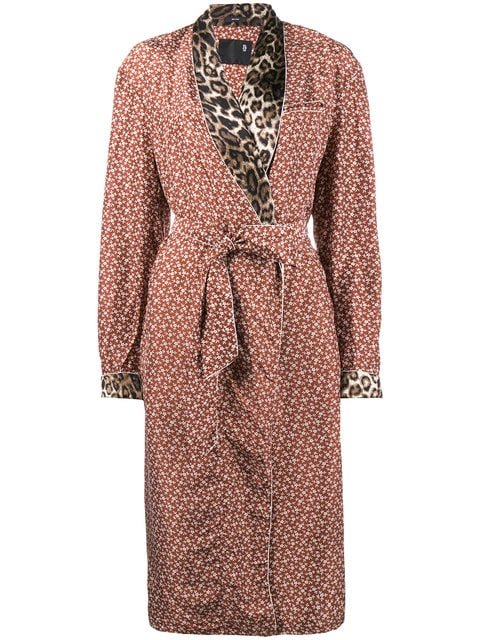 R13 Contrast Print Smoking Robe - Farfetch
