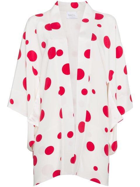Racil Silk Kimono With Red Circles - Farfetch