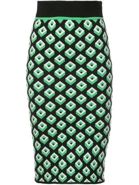 Dvf Diane Von Furstenberg Geometric Cube Skirt - Farfetch