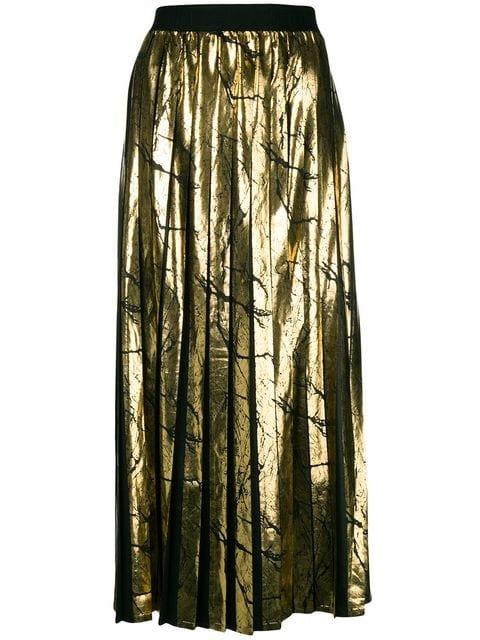 Versace Collection Metallic Pleated Skirt - Farfetch