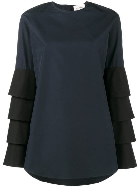 Monographie French Cuff Tiered Blouse  - Farfetch