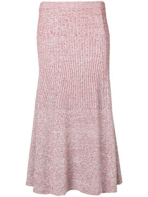 Victoria Beckham Rib Change Flared Skirt - Farfetch