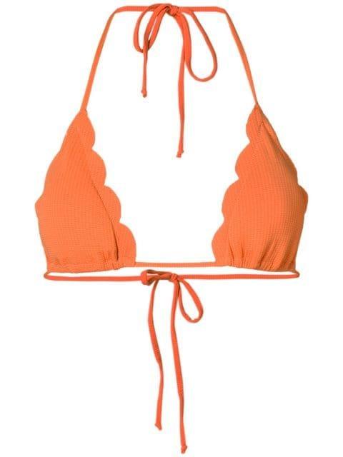 Marysia Scalloped Hem Bikini Top - Farfetch
