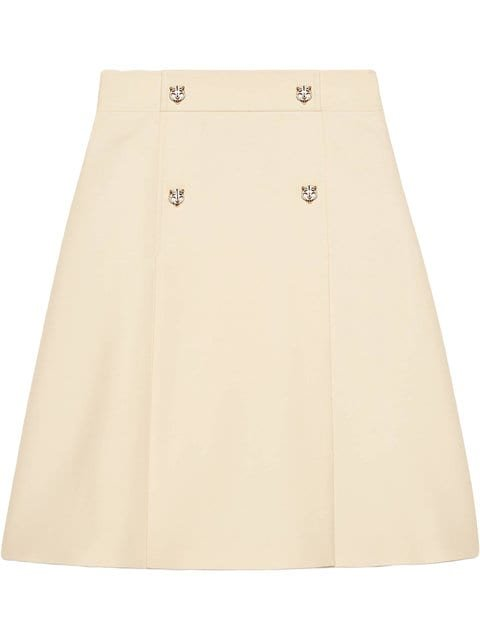 Gucci Wool Silk A-line Skirt - Farfetch