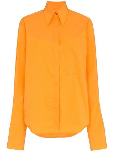 Rejina Pyo Orange Mira Oversized Collared Shirt - Farfetch