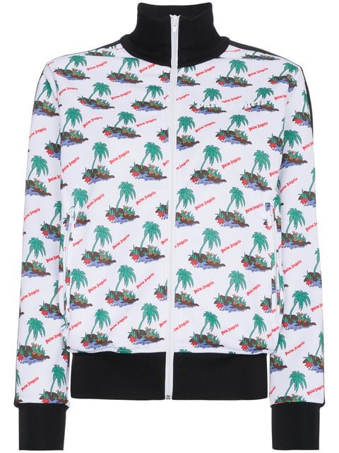Palm Angels Palm Print Sports Jacket - Farfetch