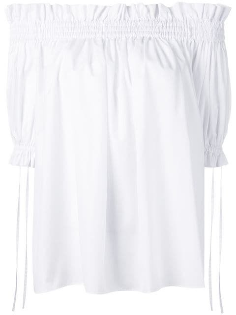 Alexander McQueen Off-the-shoulder Smocked Blouse - Farfetch