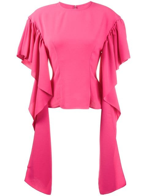 Rejina Pyo Kara Blouse With Long Drape Sleeves - Farfetch
