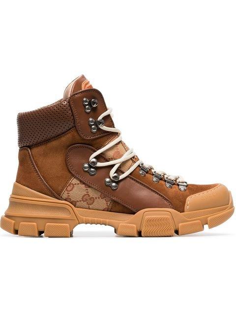 Gucci Journey GG Logo Suede Hiking Boots - Farfetch