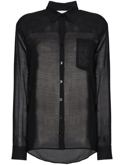 Beau Souci Sheer Long Sleeve Button Down Shirt - Farfetch