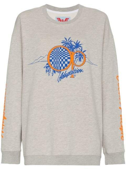 Adaptation Logo Palm Tree Sweatshirt - Farfetch