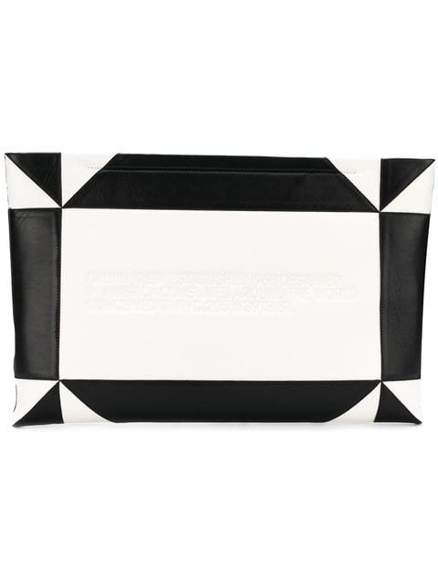 Calvin Klein 205W39nyc Embossed Geometric Clutch - Farfetch