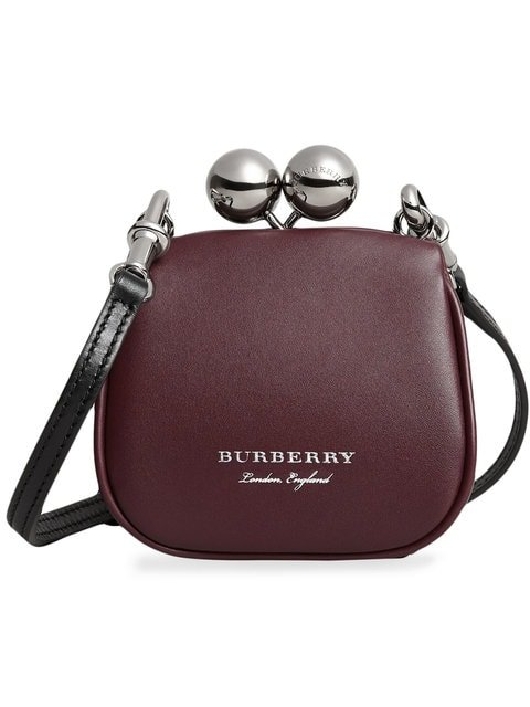 Burberry Mini Two-tone Leather Metal Frame Clutch Bag - Farfetch