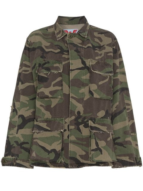 Adaptation Embroidered Camouflage Cotton Jacket - Farfetch