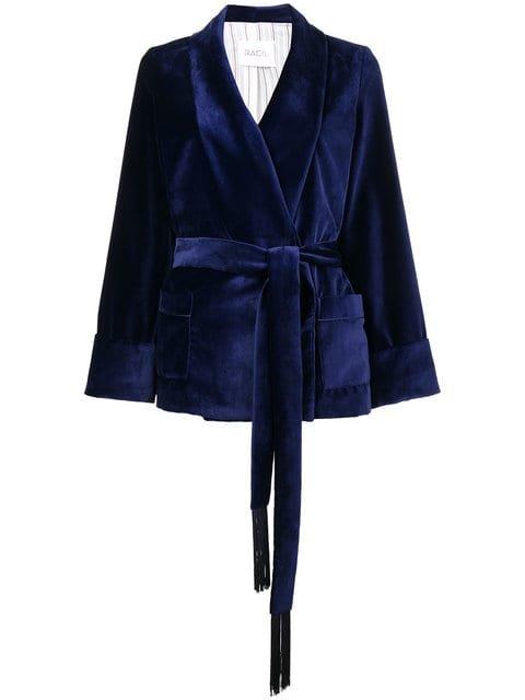 Racil Tassel Tie Velvet Kimono Jacket - Farfetch