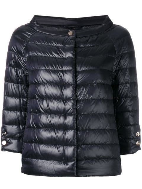 Herno Cropped Sleeves Padded Jacket - Farfetch