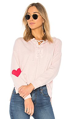 Sun Day Lace Up Hoodie                                             SUNDRY