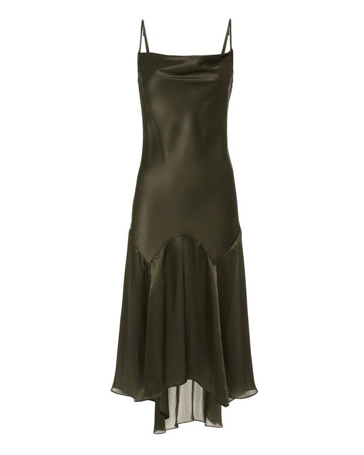 Teardrop Slip Midi Dress