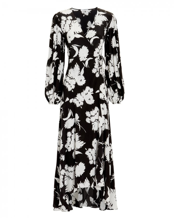 Kochhar Printed Wrap Dress