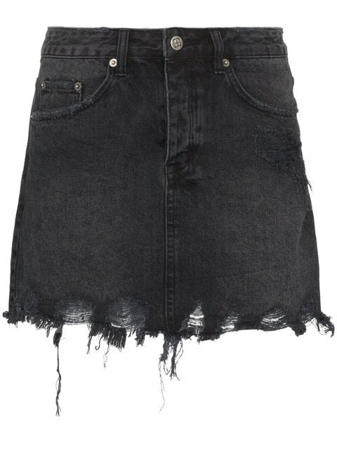 Ksubi Mini Moss Distressed Denim Mini Skirt - Farfetch