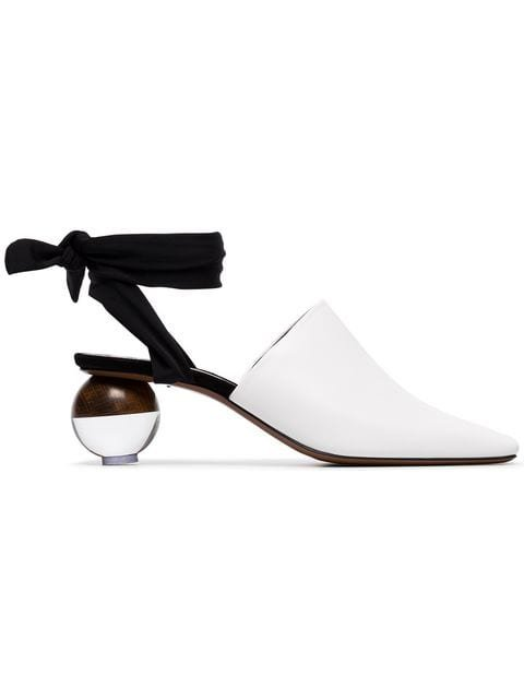 Neous Leather Brough 55 Ball Heel Mules - Farfetch