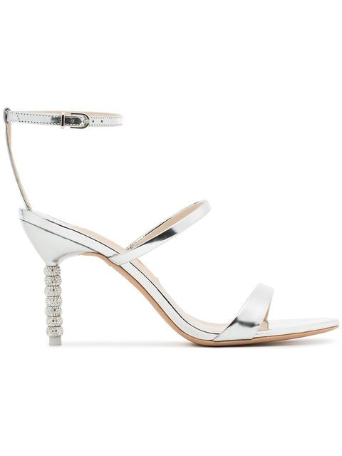 Sophia Webster Silver Metallic Rosalind 85 Leather Sandals - Farfetch