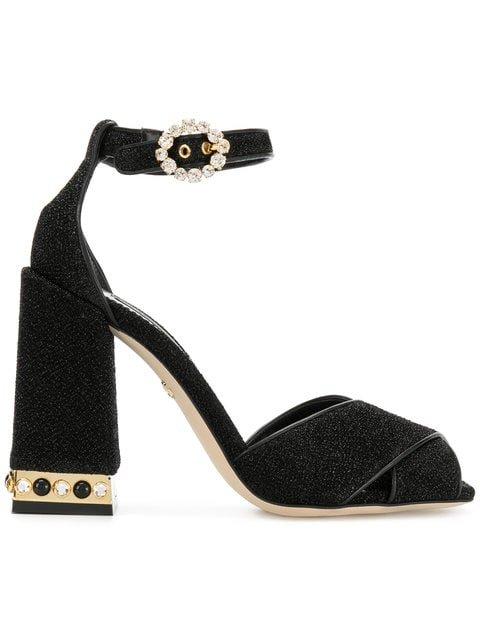 Dolce & Gabbana Block Heel Sandals - Farfetch