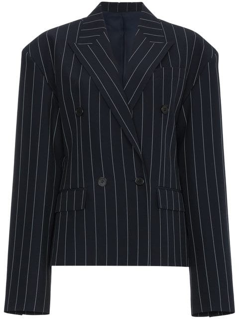 Juun.J Double Breasted Pinstripe Blazer - Farfetch
