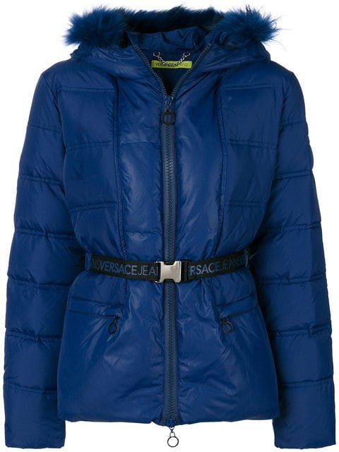 Versace Jeans Padded Hooded Jacket - Farfetch