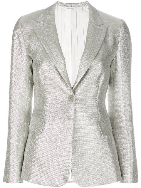 P.A.R.O.S.H. Textured Stitch Blazer - Farfetch